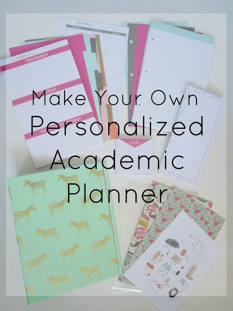 Courtney's Little Things: Academic Planner Set Up
