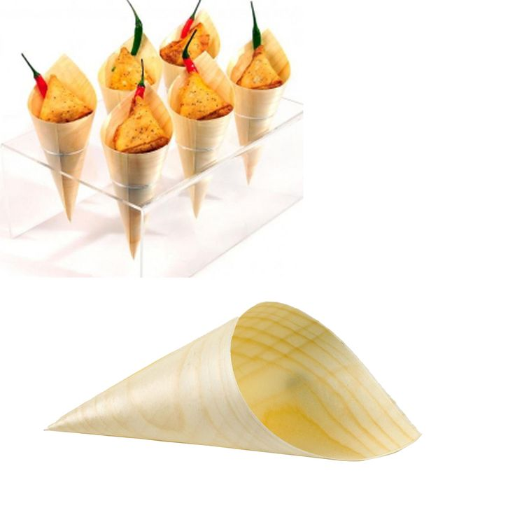 """Cheap tableware bowl, Buy Quality tableware party directly from China tableware flatware Suppliers: 20pcs/lot 5""""/3"""" wooden bamboo Cone bowl dish natural plate Disposable wood tableware sushi Dessert,party,even"""