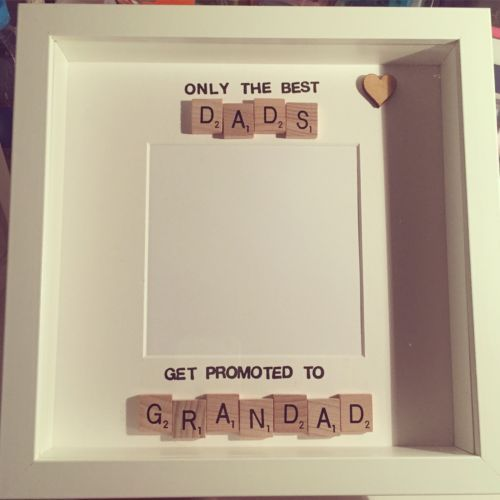 handmade scrabble tile photo frame dad daddy grandad fathers day in home furniture