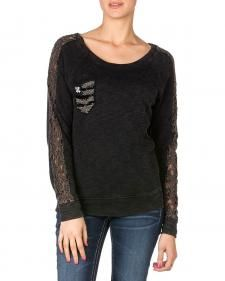 Miss Me Mineral Wash Pullover Top