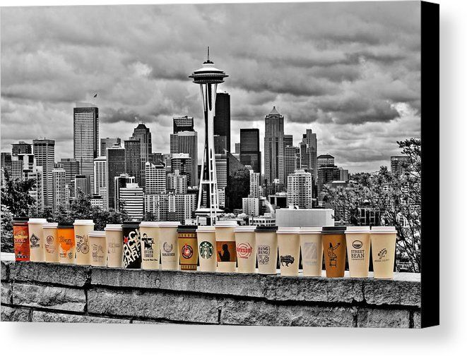 Coffee Capital Canvas Print by Benjamin Yeager.  All canvas prints are professionally printed, assembled, and shipped within 3 - 4 business days and delivered ready-to-hang on your wall. Choose from multiple print sizes, border colors, and canvas materials.