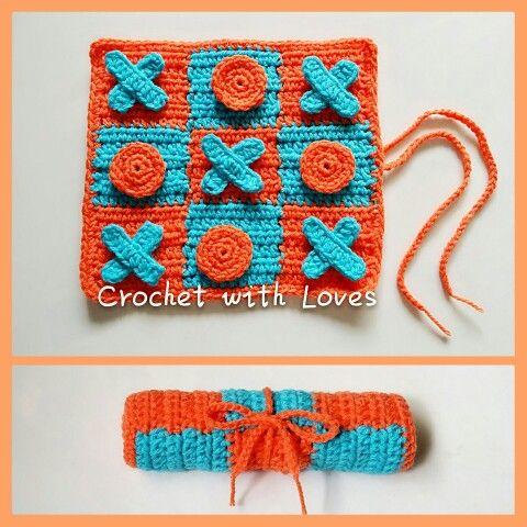 Handmade Game, Tic-Tac-Toe -  by Crochet with Loves (Jennifer)