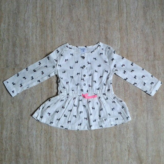 Carter's light cream mini dress 18bulan (4pcs) harga 55rb