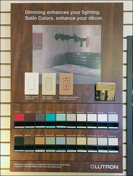In Store Lutron Color Samples To Go Sample Swatches Swatch