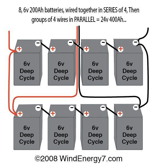 wiring multiple 6 volt batteries together |  but NOT