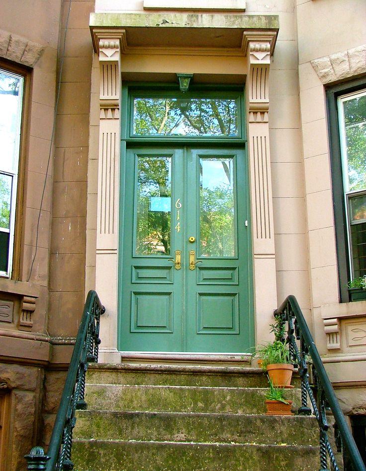 Brownstone Entry Doors Stock Photo Door Front Door Steps Steps To