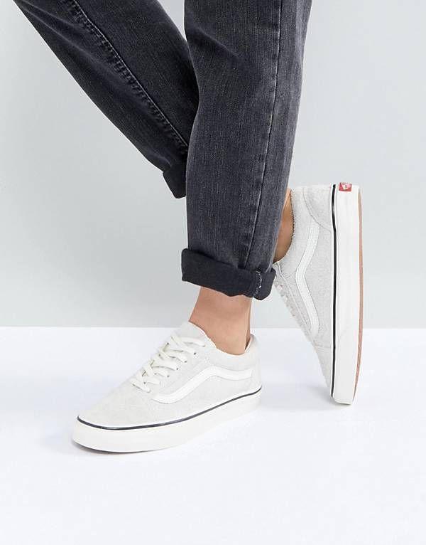 2b8f233f0678 Vans Old Skool Unisex Sneakers In Cream Suede