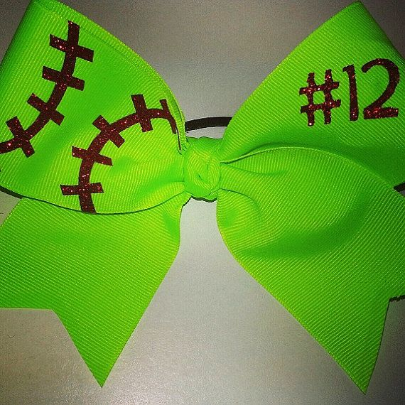 Hey, I found this really awesome Etsy listing at http://www.etsy.com/listing/150121235/softball-bow-w-number