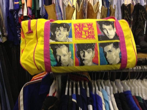 Vintage New Kids On The Block NKOTB Duffle Bag 1990s by ...