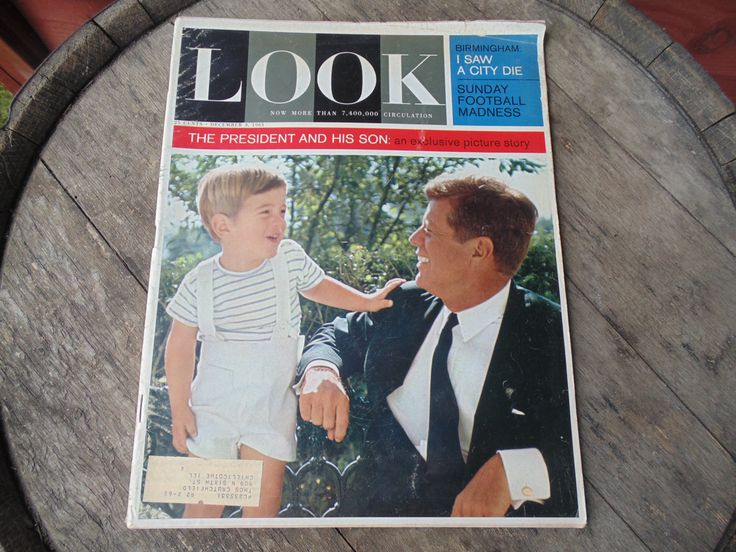 LOOK Magazine 1960s JFK President and His Son Birmingham Football Madness vintage December 3 1963 by OurVintageHouse on Etsy