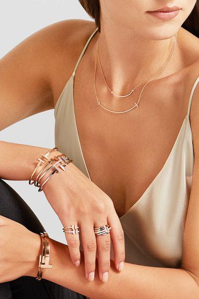 Tiffany & Co - T Wrap 18-karat Rose Gold Diamond Ring -