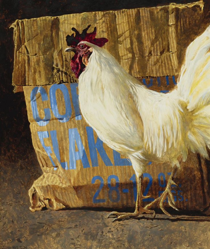 "Jamie Wyeth (American, b. 1946) - ""Cornflakes"", 1985"