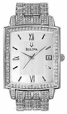 Bulova: Crystals Dresses, Dresses Watches, Bulova Men, Silver Whit Dail, Bulova Watches, Crystal Dress, Men Crystals, Favorite Watches