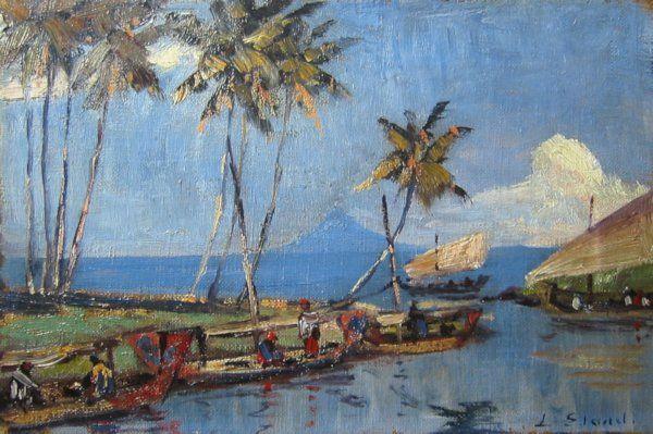 Leo Eland - Vissersbootjes