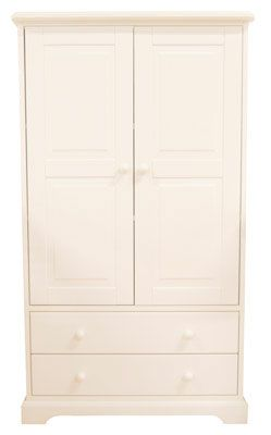 Baby Weavers 2 Drawer Wardrobe in White from Kiddicare.com