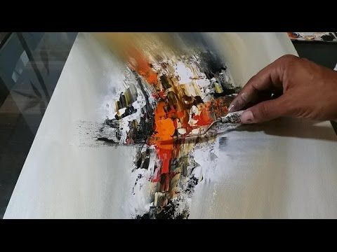 Abstract Painting / EASY Mixing and Palette Knife / Demonstration – YouTube