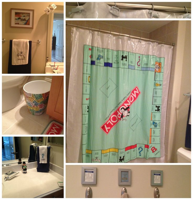 HD Wallpapers Monopoly Water Works Shower Curtain