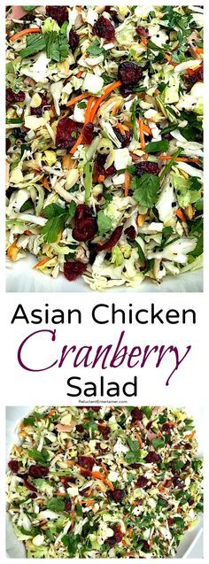Asian Chicken Cranberry Salad (Salad Recipes Asian)
