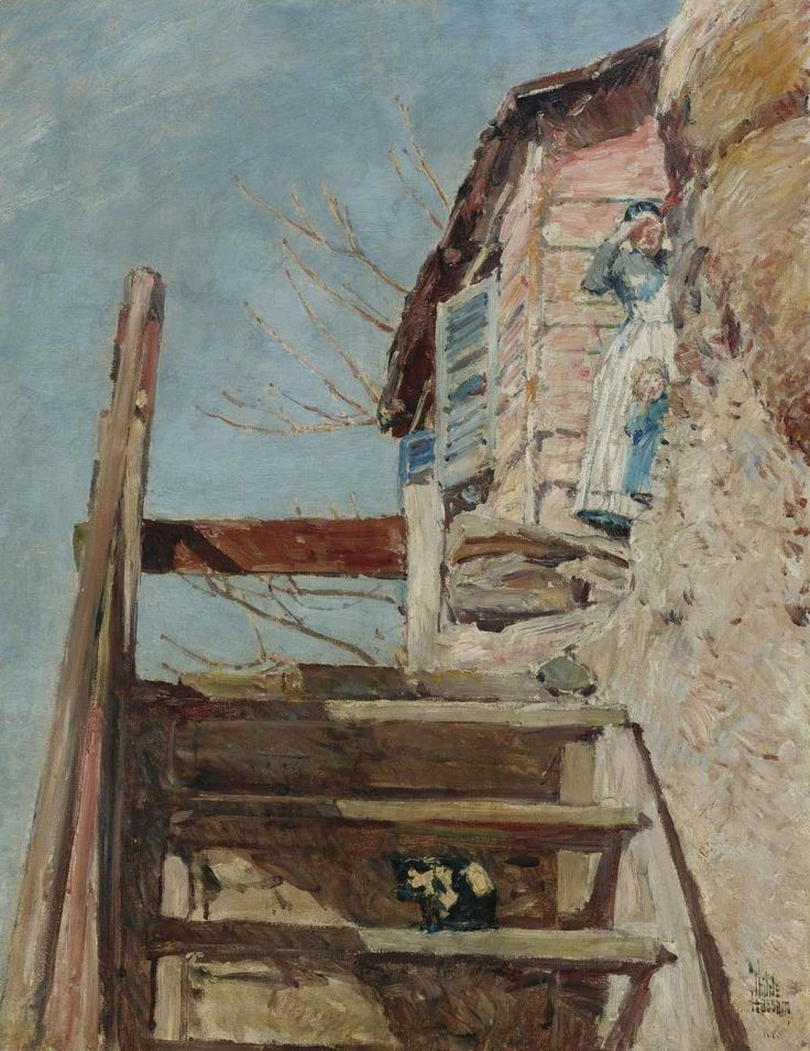 The Stairs 1888 Painting | Frederick Childe Hassam | Oil Painting  Reproduction