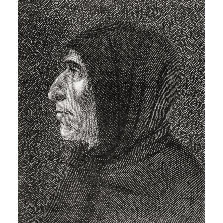 Girolamo Savonarola 1452 Canvas Art - Ken Welsh Design Pics (14 x 16)