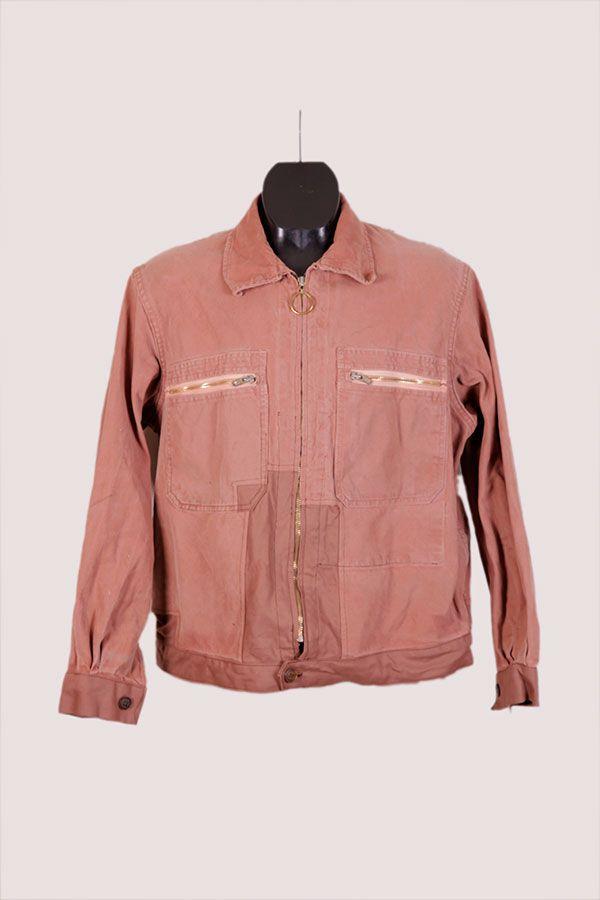 1950 Le Ramier carpenter work jacket, moleskin, patched, rapiécé
