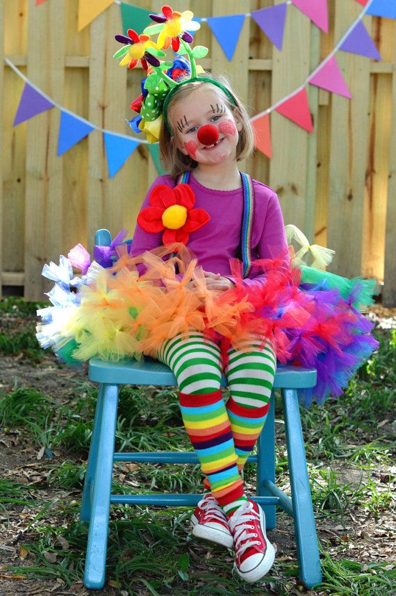 Atutudes Circus Clown Rainbow Pettitutu. $34.95, via Etsy.-This would be EASY to DIY for Shelby Lynn!