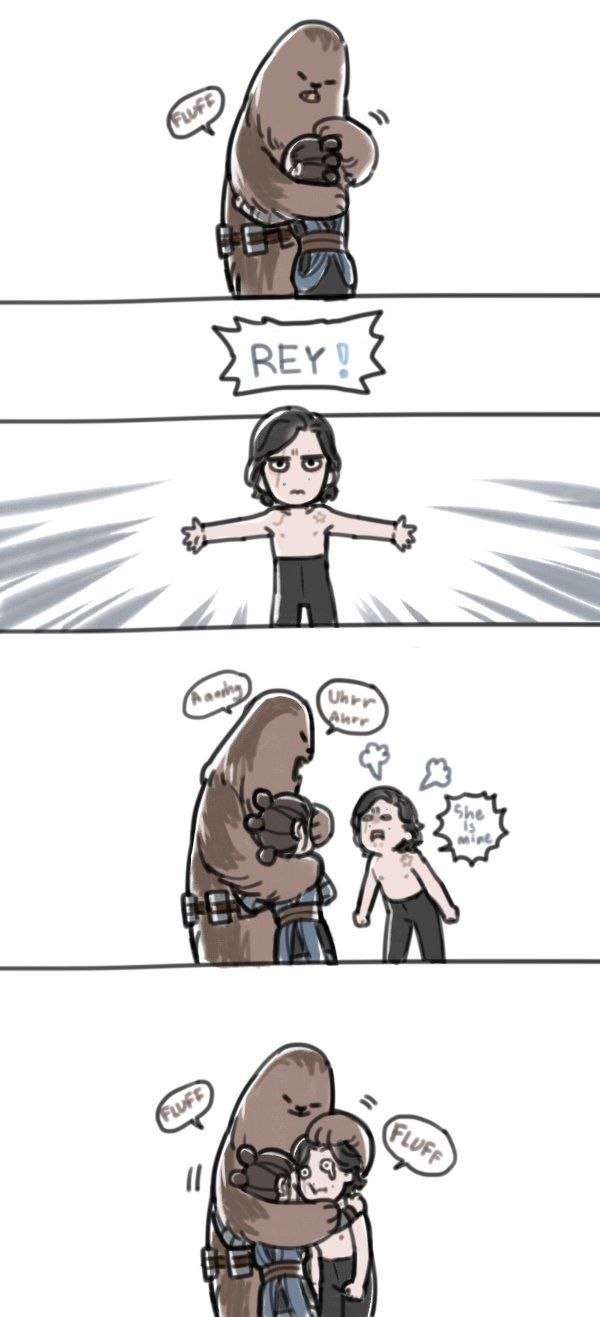 I need to see Chewie backhand Ben across the Falcon (for Han) before picking him up and hugging the ever living hell out of him!