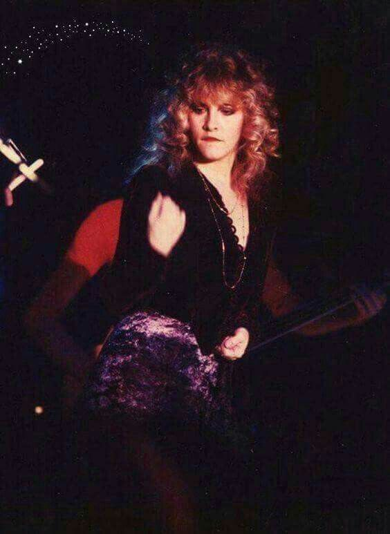 Stevie ~ ღ☆❤☆ღ ~ wiggling around in her tiny little crushed velvet mini skirt while performing with Bob Welch at the Roxy, in Los Angeles, CA, on November 19th, 1981