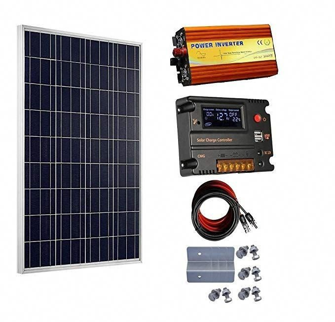 Eco Worthy 100 Watt 12v Solar Panels Kit 20a Charge Controller 1000w Power Inverter For Off Grid 12 V In 2020 Solar Energy Panels 12v Solar Panel Best Solar Panels