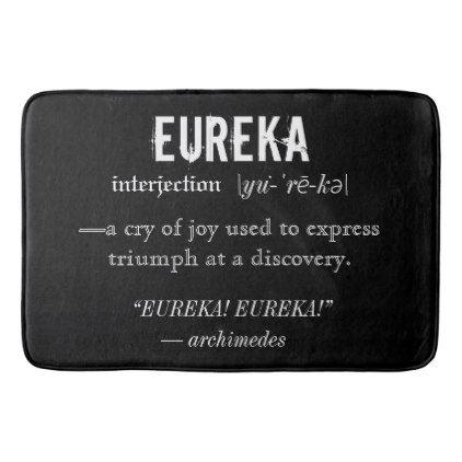 #Eureka Definition Archimedes Greek Nerd Fraternity Bathroom Mat - #Bathroom #Accessories #home #living