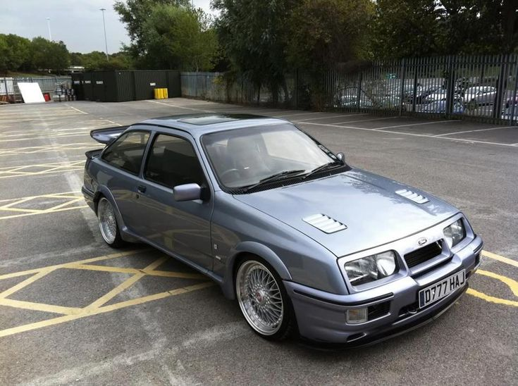 Ford Sierra RS Cosworth. The Moonstone Blue one