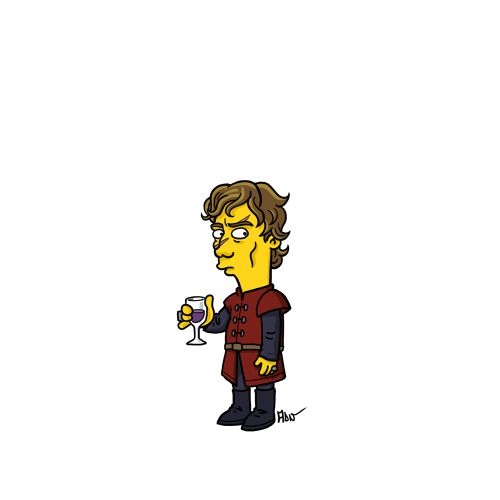 "Tyrion Lannister from ""Game of Thrones"" / Simpsonized by ADN"