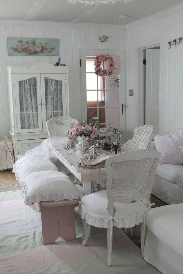 дома, дизайн дома, розовый, потертый шик, белый