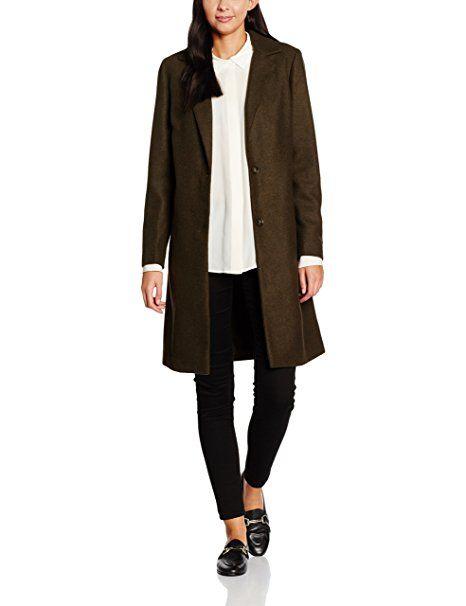 New Look Damen Mantel Lined, Grün (Dark Khaki), 40 (Herstellergröße: 12) 20€            #mode #fashion #sale #lookgood #jeans #modern #lady