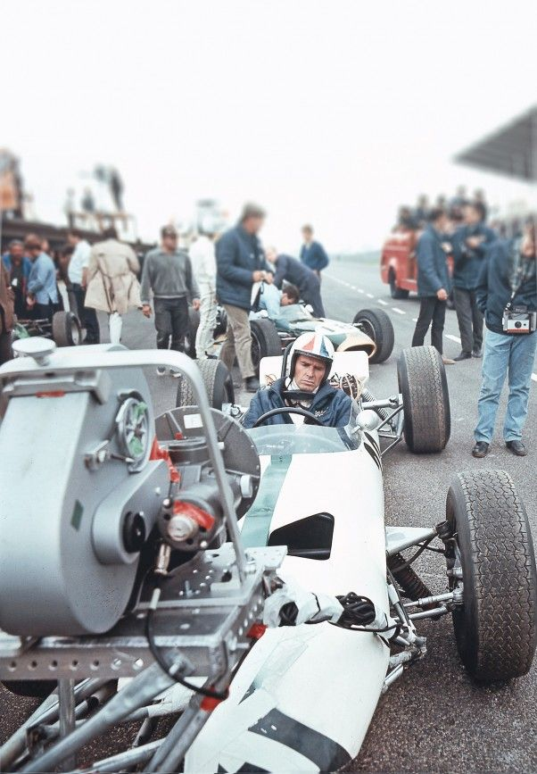 In the Days Before Dash Cams. James Garner on the set of Grand Prix. Who needs a Go-Pro?