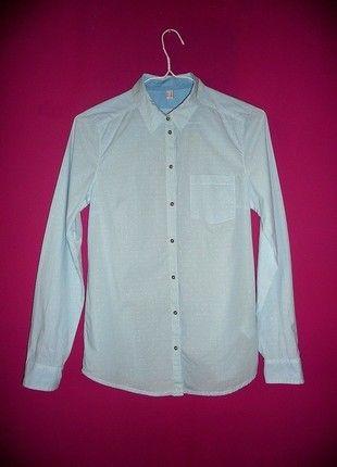 Kup mój przedmiot na #vintedpl http://www.vinted.pl/damska-odziez/koszule/10893416-espirt-38-m-elegancka-blekitna-koszula-niebieska-w-kropki-paski-groszki-paseczki-sliczna-biurowa
