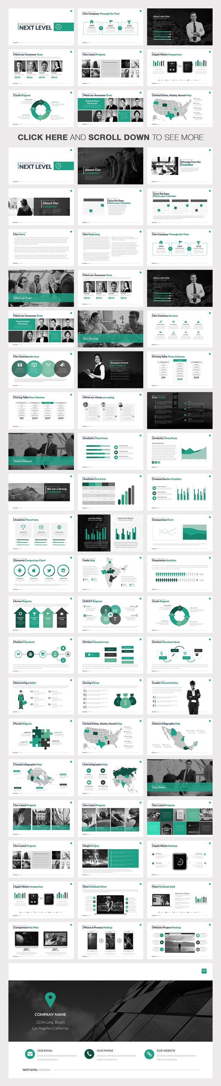 Next Level Powerpoint Template by Slidedizer on Creative Market                                                                                                                                                                                 もっと見る