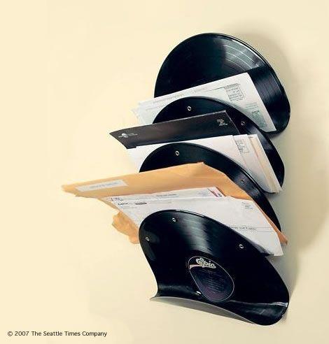 Wandregal aus Vinyl Platten basteln