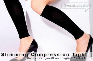 Slimming Compression Tight Berbentuk Kaos Kaki Yang Berguna Untuk Mengecilkan Bagian Tubuhmu Seperti Betis & Paha Only Rp.55,000  - www.evoucher.co.id #Promo #Diskon #Jual   Klik > http://evoucher.co.id/deal/Slimming-Compression-Tight  Slimming Compression Tight merupakan produk inovatif berbentuk seperti kaos kaki, terbuat dari bahan nylon, tension textile fibre yang sangat bermanfaat untuk mengecilkan bagian tubuh tertentu seperti betis atau paha, tanpa efek samping sa