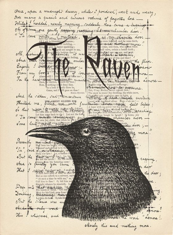 Edgar Allan Poe, The Raven (poem)    Must admit, I'm a huge Edgar Allan Poe fan~