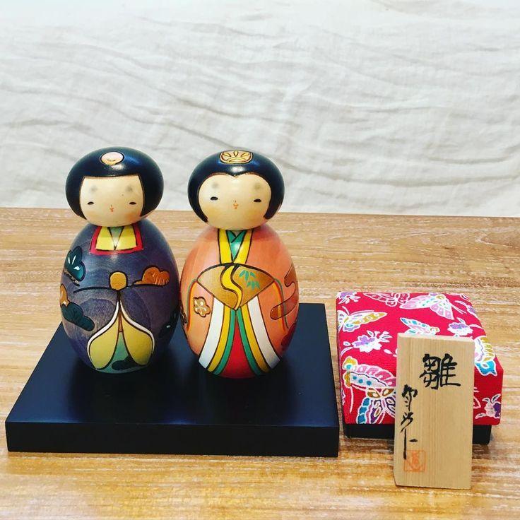Hinasama kokeshi dolls for the girl's day in Japan.