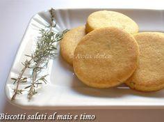 Biscotti salati al mais e timo, ricetta facile