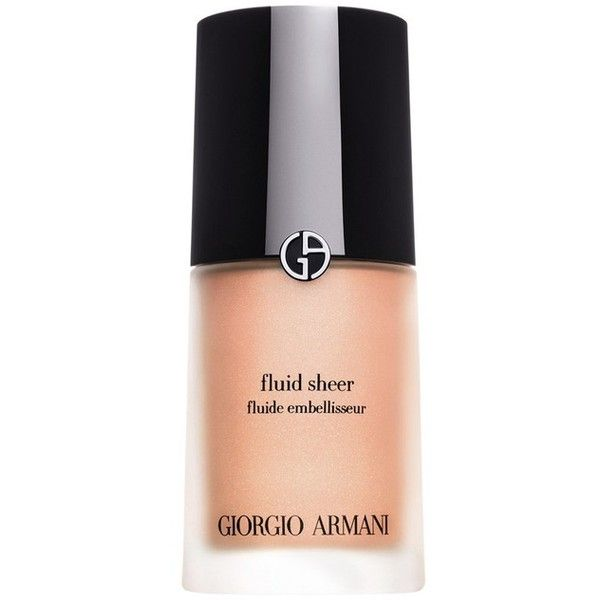 Giorgio Armani Fluid Sheer/1 Oz. (430 DKK) ❤ liked on Polyvore featuring beauty products, makeup, face makeup, beauty, foundation & primer, giorgio armani makeup, giorgio armani cosmetics, polish makeup, giorgio armani and glossier makeup