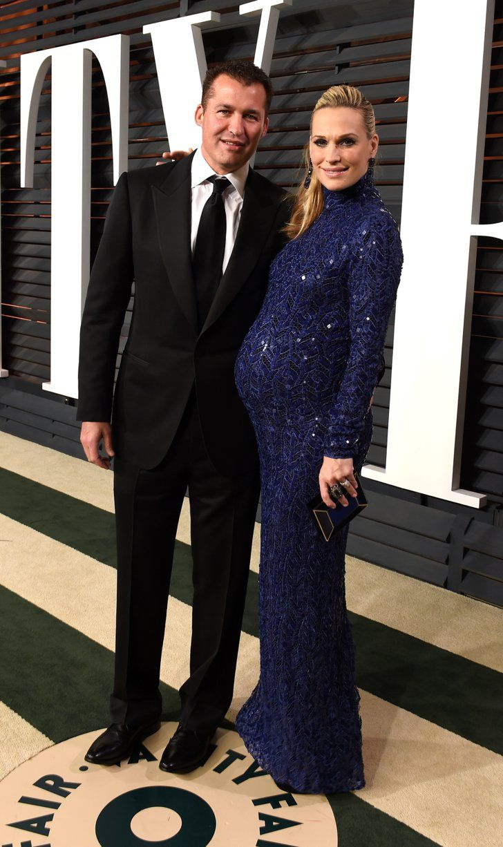 Pin for Later: See Which Stars Let Their Hair Down at Vanity Fair's Oscars Afterparty! Molly Sims and Scott Stuber