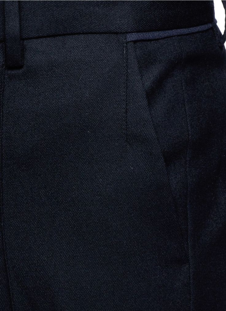 WOOYOUNGMI - Piped waist wool pants | Black Slim Fit Pants Pants & Shorts | Men | Lane Crawford - Shop Designer Brands Online