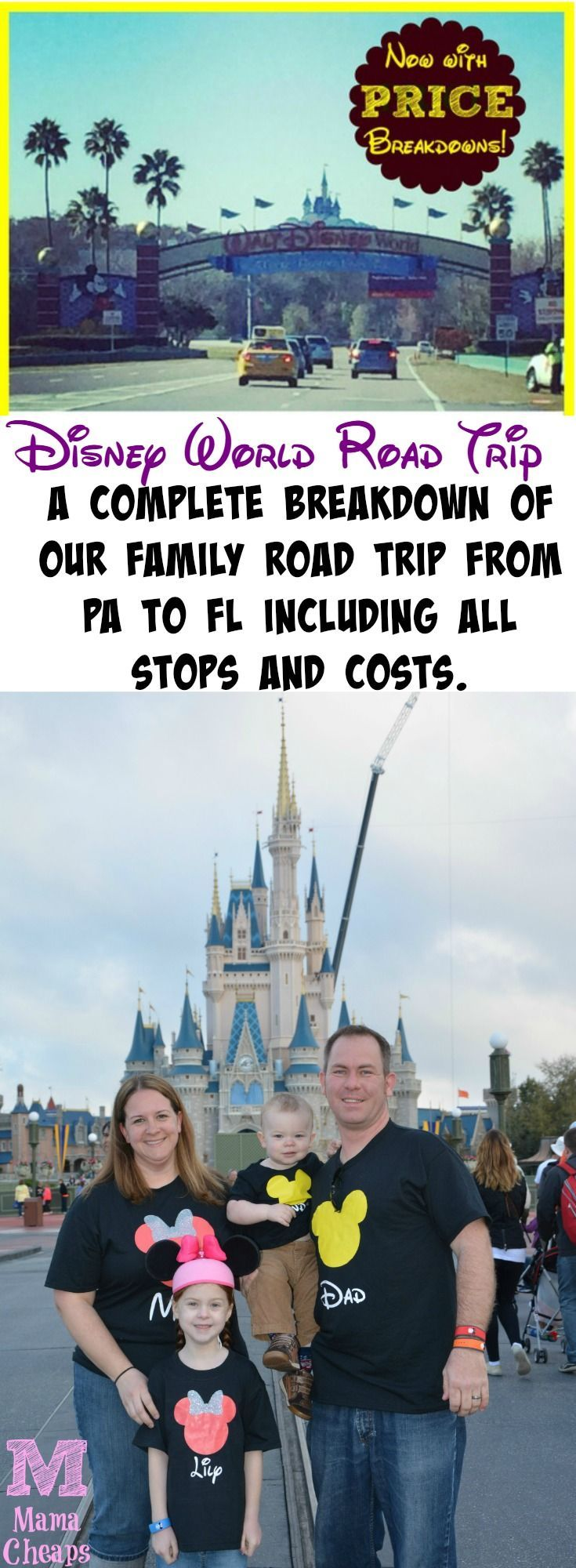 Disney World Road Trip Itinerary Pa To Fl And Back