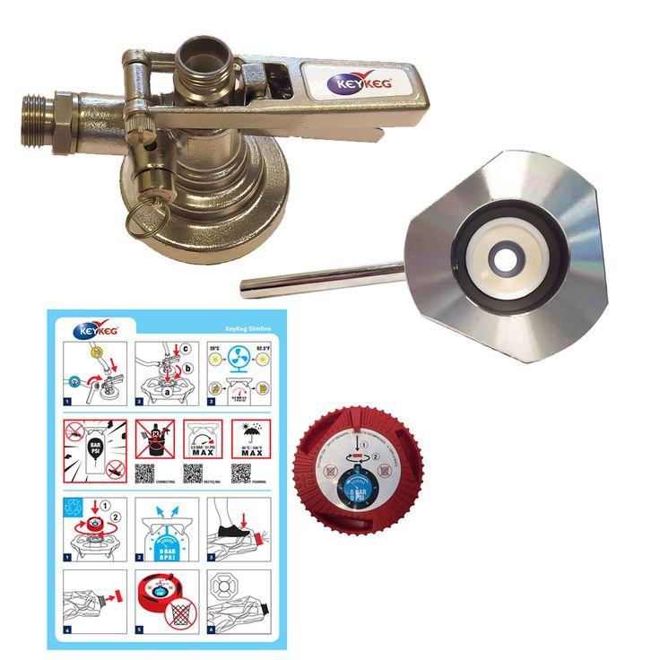 Keykeg Package, Keykeg coupler, keykeg cleaning adaptor and keykeg deflation tool plus instructions card. #keykeg #keykegcoupler #keykegcleaning #keykegadaptor #keykegbeer #keykegdispense