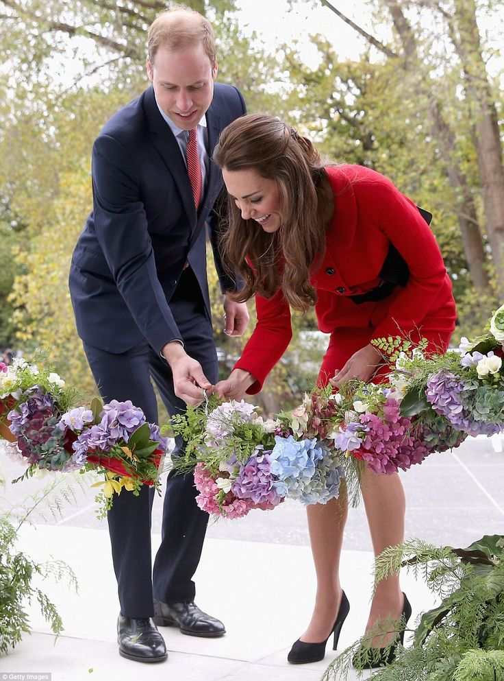 The Duke and Duchess of Cambridge also officially opened the visitors centre of the Botanic Gardens in Christchurch on Monday 4/14/2014