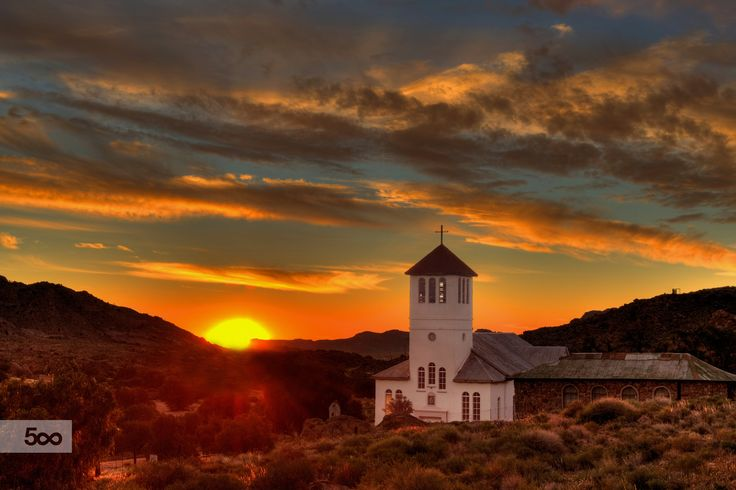 Church Sunset Namibia by Fanie Heymans on 500px