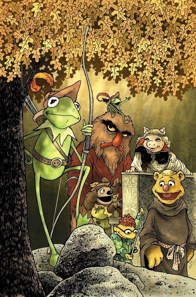 los Muppets recreando cuentos de hadas
